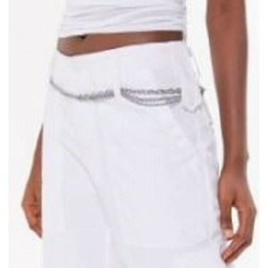 Urban Outfitters Triple Layered Chain Belt Silver